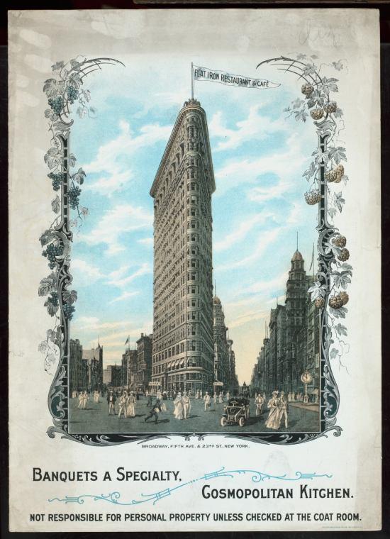1905 Menu Flatiron Restaurant & Café, New York, Cover