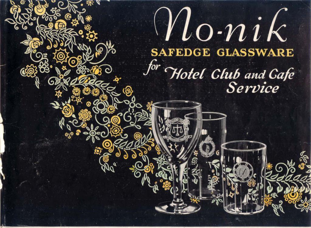 1927 Libbey Glass Mfg Co. No-nik. Cover