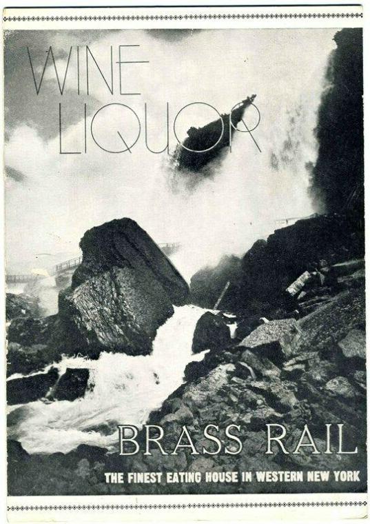 1930s Brass Rail Restaurant, Wine & Liquor List, New York, Cover