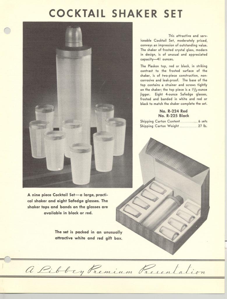 1937 Libbey Glass Company. Premium. p.32