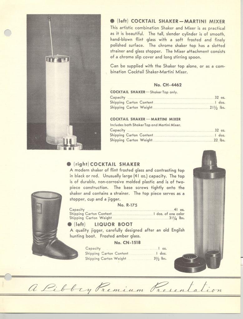 1937 Libbey Glass Company. Premium. p.33