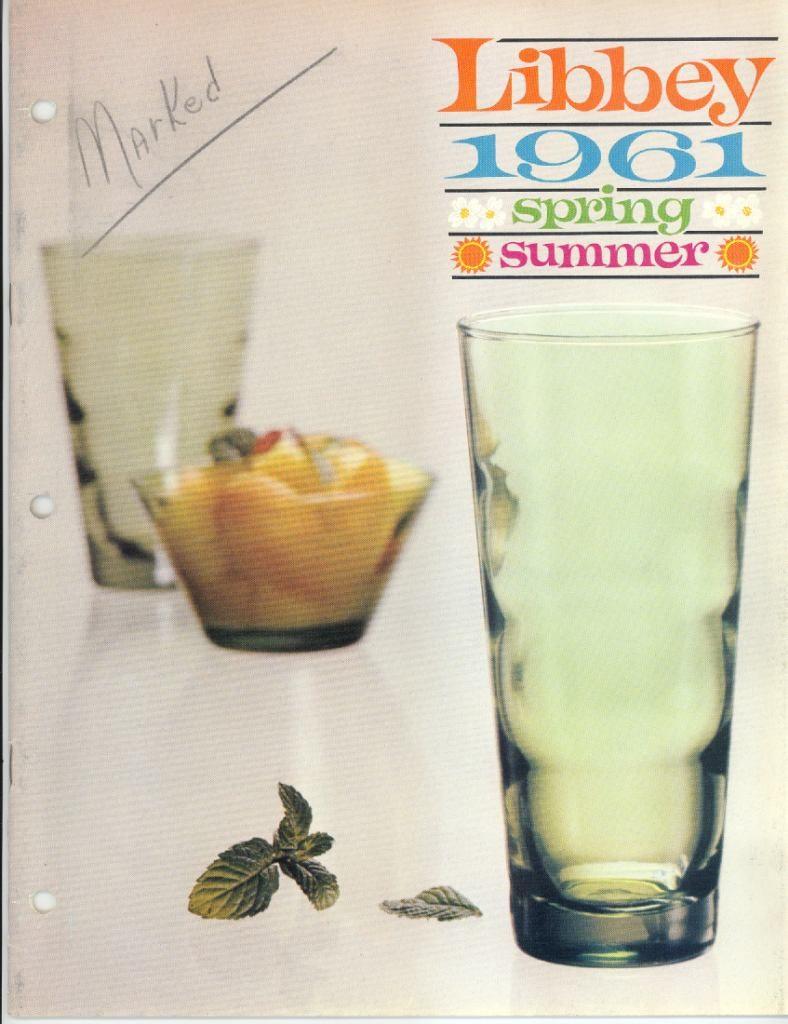 1961 Libbey Safedge Glassware. Spring. Summer. Cover