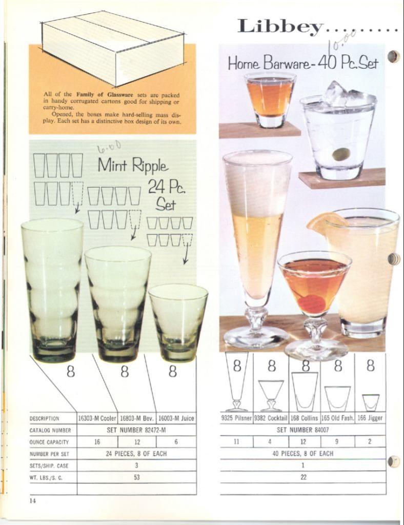 1961 Libbey Safedge Glassware. Spring. Summer. p.14