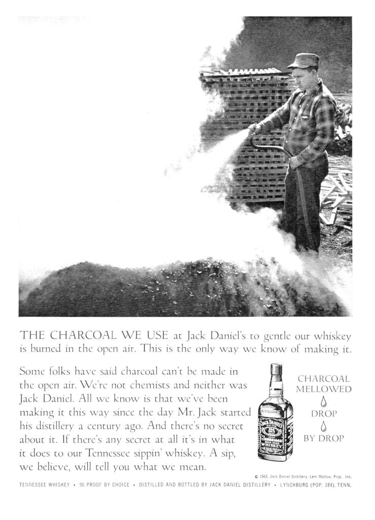 Jack Daniels Whiskey Print Ad from Sports Illustrated, 1965-11-01, p.063