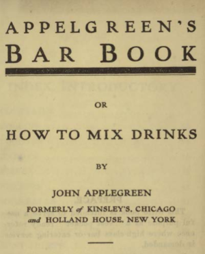 Different Cocktail Recipes of 1900s