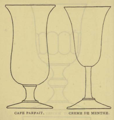 CAEE PARFAIT & CRÈME DE MENTE Glassware for the Buffet