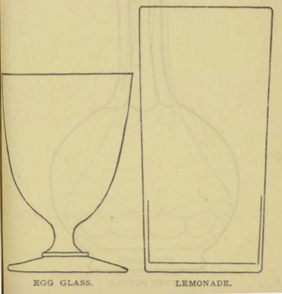 EGG GLASS & LEMONADE Glassware for the Buffet