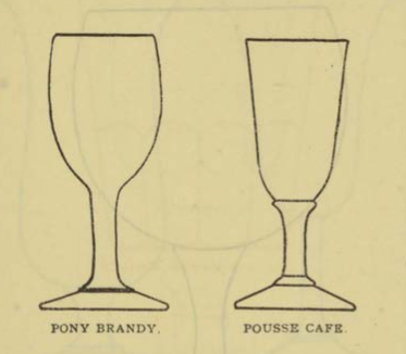 PONY BRANDY & POUSSE CAFE Glassware for the Buffet