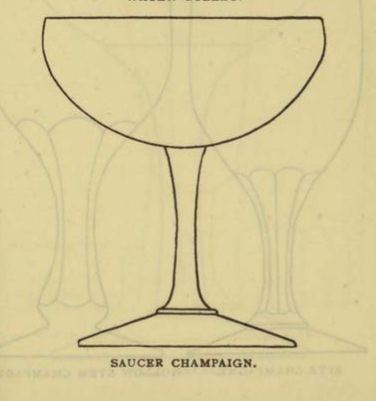 SAUCER CHAMPAIGN Glassware for the Buffet