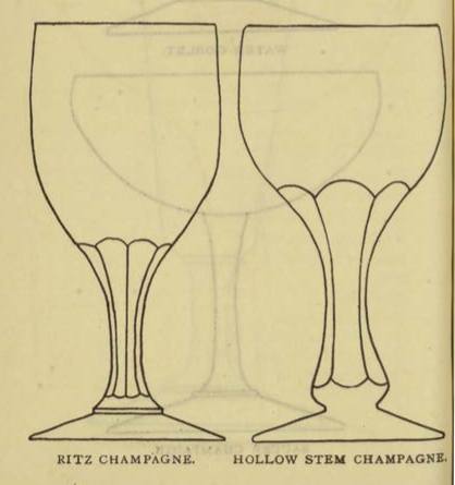 RITZ CHAMPAGNE & HOLLOW STEM CHAMFAGN Glassware for the Buffet