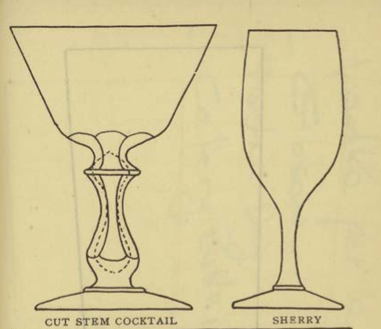 CUT STEM COCKTAIL & SHERRY Glassware for the Buffet