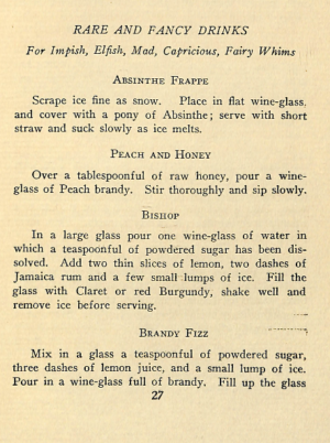 RARE AND FANCY DRINKS Cocktails Recipes of 1920s