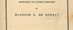 Cuban Cookery. Appendix on Cuban Drinks (1931)