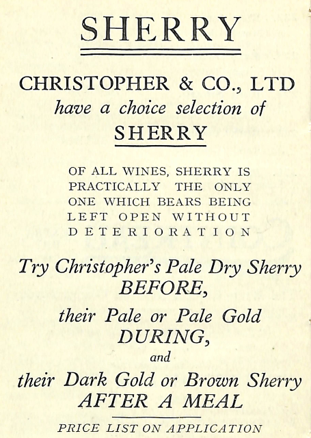 Production of Wines: SHERRY